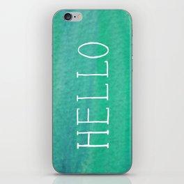Hello Mint iPhone Skin
