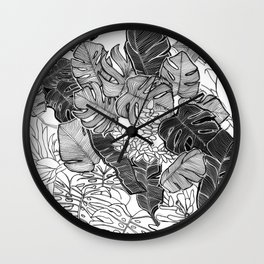 BOTANICAL MESS Wall Clock