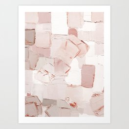 Abstract painting 4 - blush and taupe mix Art Print