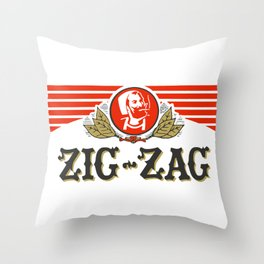 ZIG-ZAG rolling papers Throw Pillow
