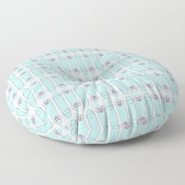 SKATEBOARDS ((pink and blue)) Floor Pillow