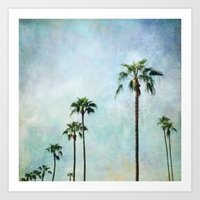 palm trees Art Prints featuring Palm trees by Sylvia Cook Photography