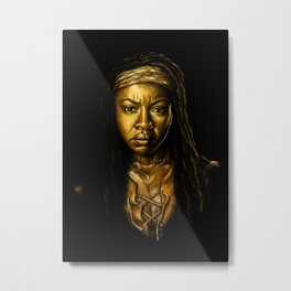 Michonne Golden Metal Print