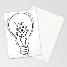 we real cool Stationery Cards