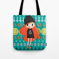 grunge Tote Bags featuring Grunge by Irene Dose