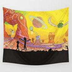 Rick and Morty - Silhouette Wall Tapestry