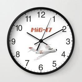 MiG-17 Soviet Jet Fighter Wall Clock
