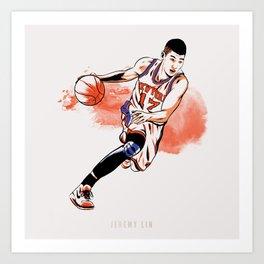 Jeremy Lin Art Print