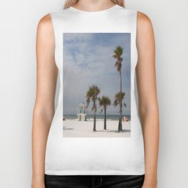 Clearwater Beach In Wintertime Biker Tank
