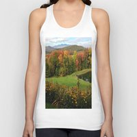 vermont Tank Tops featuring Warren Vermont Foliage by Vermont Greetings