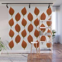 Camellia Leaf Pattern Wall Mural
