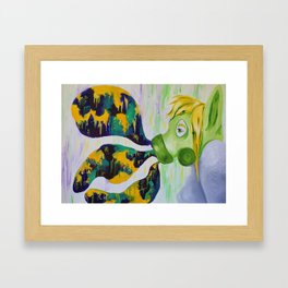 Letting Out the Bad Framed Art Print