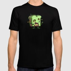 Zombie Sandwich Bot MEDIUM Black Mens Fitted Tee