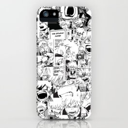 angry bakugou collage iPhone Case