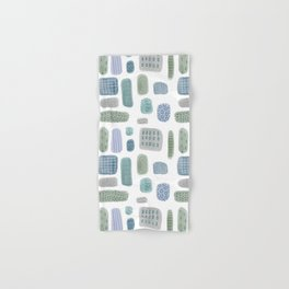Abstract Pebbles blue green Hand & Bath Towel