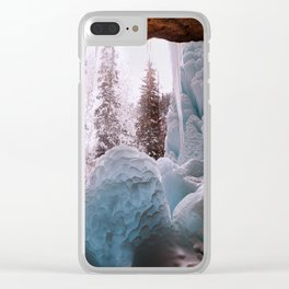 Hanging Lake Spouting Rock at Glenwood Canyon Glenwood Spring Area Colorado. Clear iPhone Case