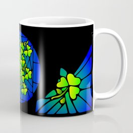 Stained Glass Shamrocks Coffee Mug