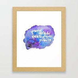 "illuminae ""you have me"" watercolor bubble galaxy Framed Art Print"