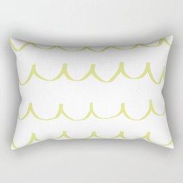 Citron Green Waves Rectangular Pillow
