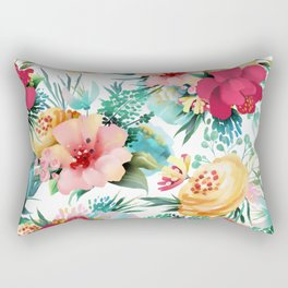 Bright and Bold Flowers Rectangular Pillow