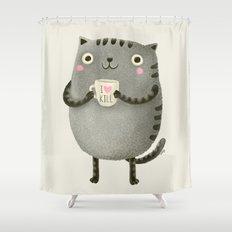 I♥kill (brown) Shower Curtain