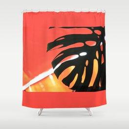 Lanzarote 13445 Jameos del Agua - Palm tree in  Lanzarote island Shower Curtain
