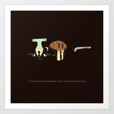 The truth about coconuts Art Print