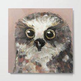 Nursery Art / Nursery Decor - Baby Owl Metal Print