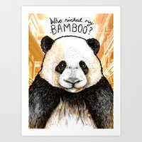 Who Nicked My Bambo (Coloured) Art Print