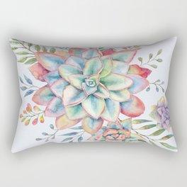 Watercolor Succulents #73 Rectangular Pillow