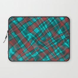 Bright metal mesh with light blue intersecting diagonal lines. Laptop Sleeve