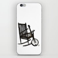 banjo iPhone & iPod Skins featuring Grandma's Banjo by LeahOwen