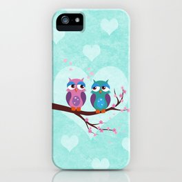 Love owls iPhone Case