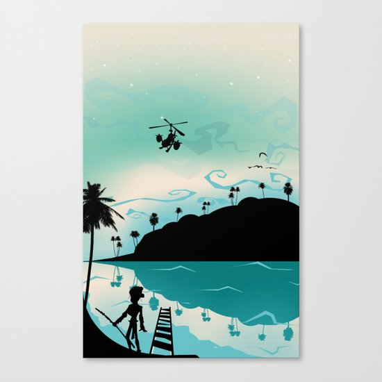 Island discovery Canvas Print