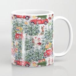 Dachshund decorates the christmas tree Coffee Mug