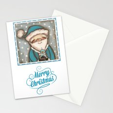 Blue Santa - by Diane Duda Stationery Cards