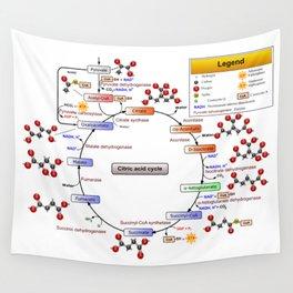 Citric Acid Cycle, TCA Cycle, Krebs Cycle Diagram Wall Tapestry