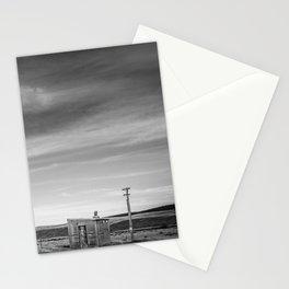 Shelter on the Tekapo to Pukaki Road (Black & White) Stationery Cards