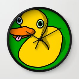 Drunk Duck | Veronica Nagorny Wall Clock