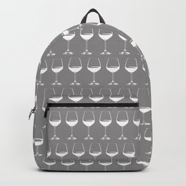 Wine Glasses on Grey Backpack