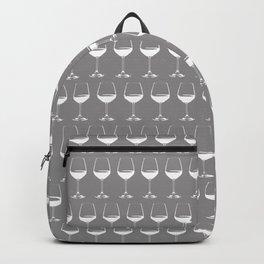Wine Glasses on Grey Backpack
