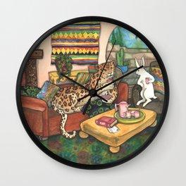 Tea with Jaguar Wall Clock