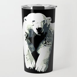 Vintage vector Zoo ad Basel polar bear Travel Mug