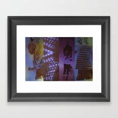 DropArt collage Framed Art Print
