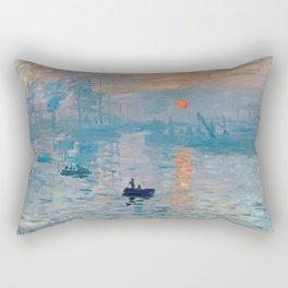 Claude Monet Impression Sunrise Rectangular Pillow