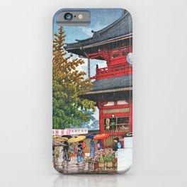 Kawase Hasui - Asakusa Morning Rain - Digital Remastered Edition iPhone Case