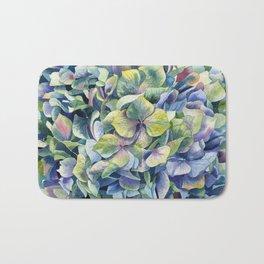 """""""Forest hydrangea"""" Bath Mat"""