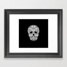 Mexican Skull - Black Edition Framed Art Print