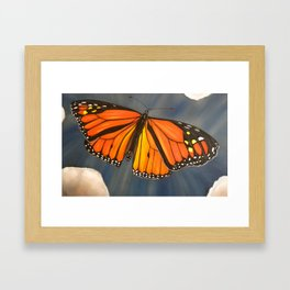 Monarch - Cloudburst Framed Art Print