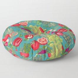 Colorful Veggie scramble Floor Pillow